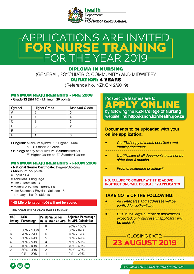 KZN Health Department Nurse Training Opportunity | Careers Portal