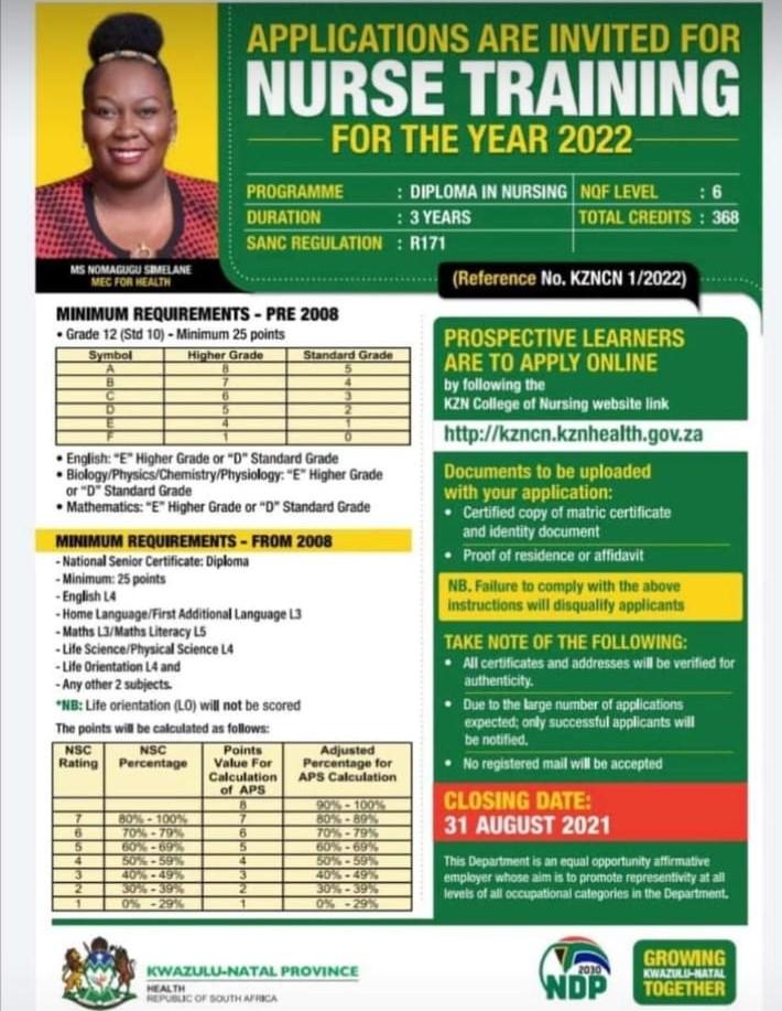 KZN Nursing application 2022