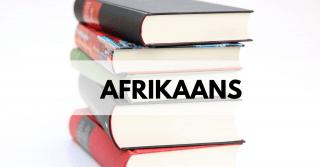 Afrikaans Past paper