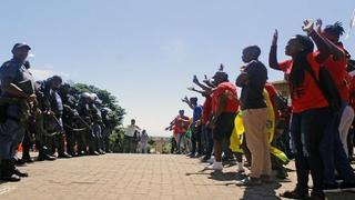 Staff & Students Protest Outside MUT, DUT & Unisa