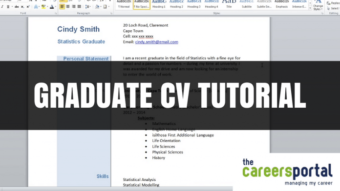 Free CV Template for Graduates | Careers Portal