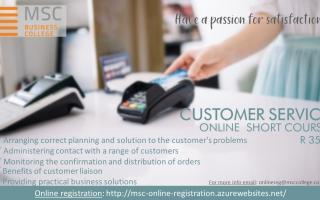 Online Short Course - Customer Service