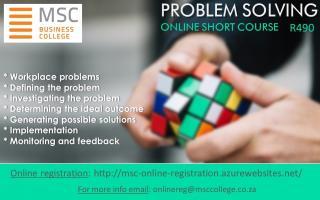 Problem Solving Online Short Course