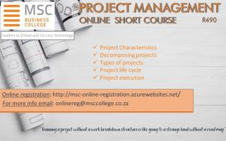 Online Short course - Project Management