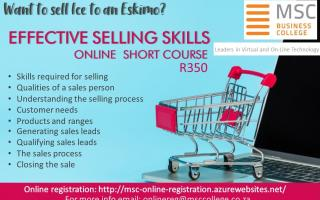 Online Short Course - Effective Selling Skills