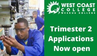 2nd Trimester Applications Open at West Coast TVET College