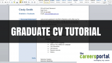 Graduate CV Tutorial